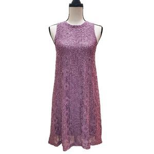 NWT! Altar'd State Dusky Orchid Lace Shift Dress